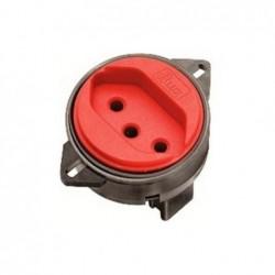 Tomada 2P+T PISO B-LUX 10A Vermelho 9775-6