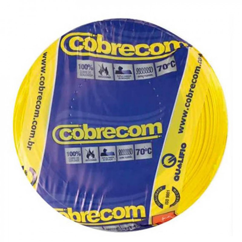 Cabo Flexível 1,5mm 750V Amarelo COBRECOM