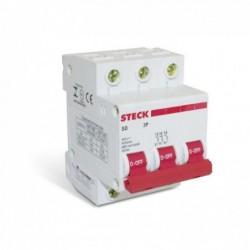 Disjuntor STECK Tripolar 63A (C)