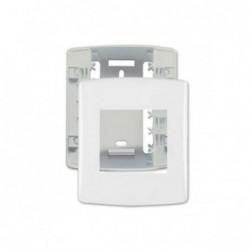 Linha Siena Fácil 6340 Caixa + Placa 2 Modulos Branco