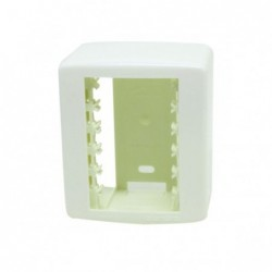 Linha Siena Fácil 6341 Caixa + Placa 3 Modulos Branco