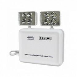 Luminária de Emergência SEGURIMAX LED 2200LM 2 faróis