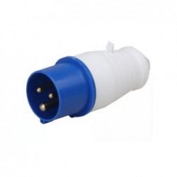 Plug Industrial JNG 2P+T 16A 220V Azul REF013