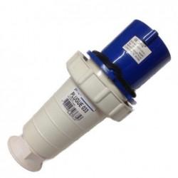 Plug Industrial JNG 2P+T 63A 220V Azul REF033