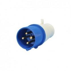Plug Industrial JNG 3P+T 16A 220V 9H Azul