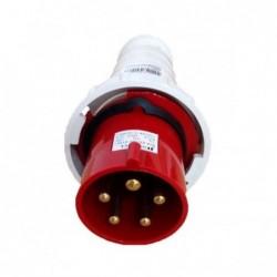 Plug Industrial JNG 3P+T 63A 380V Vermelho REF034