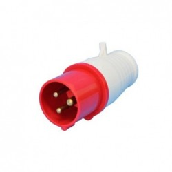 Plug Industrial JNG 3P+T+N 16A 380V 6H Vermelho